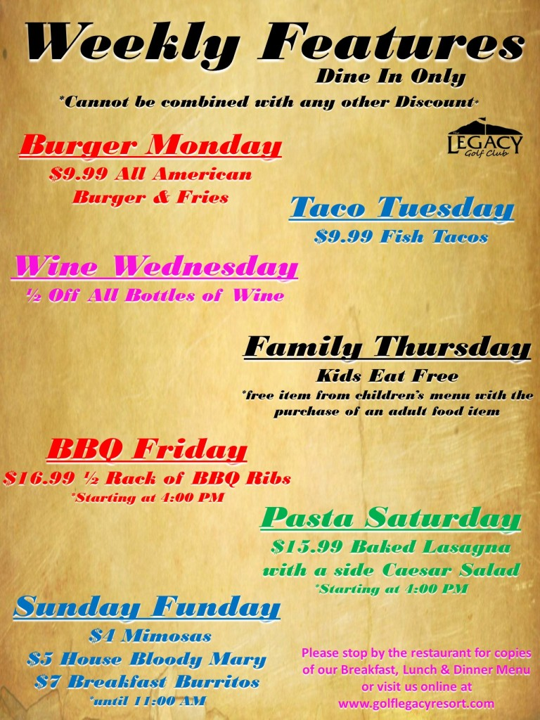 weekly features